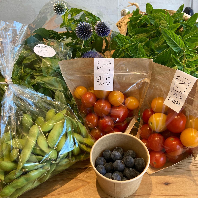 @okeyafarm さんから新鮮なお野菜届きました今回はバジルとミニトマトも入荷しました!葉っぱがふんわりして柔らかそうなバジルです️夏野菜食べましょ〜🥗